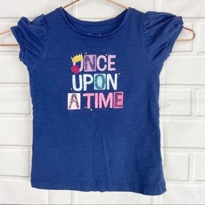 Toddler girls princess Once Upon a time tee 3T